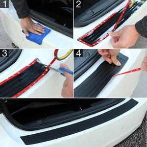 Image 4 - Автомобильный Стайлинг, резиновый Задний защитный бампер, защитная накладка, накладка, протектор порога для Skoda Octavia A7 Fabia Superb B6 Yeti