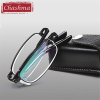 China Marke Designer Brillen Foldale Lesebrille Qualität Anti Blue Ray Falten Weg Leseglas Frauen und Männer mit Fall