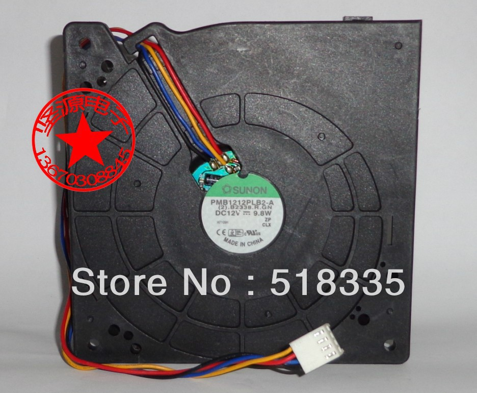 Sunon PMB1212PLB2-A 12CM 1232 12032  12V 9.8W PWM fan   switch server inverter fan taya t b 12032 neck coral