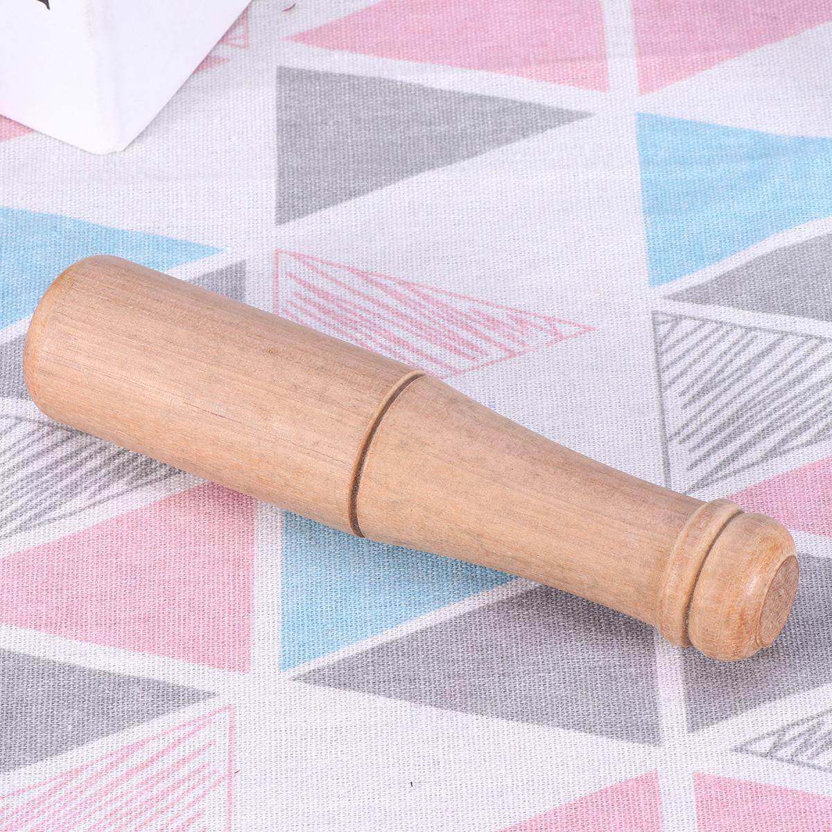 1 PC Wooden Pestle Muddler Garlic Press Spice Grinder Mashers Tool For Home Kitchen Use Kitchen Gadgets Random Color in Mills from Home Garden