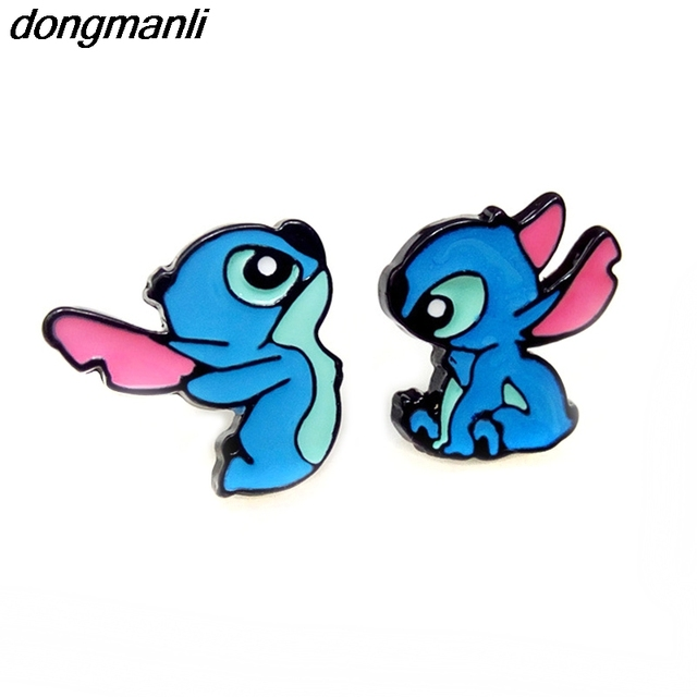 2172cf8d215 W5316 New Arrival Cartoon Alien Lilo Stitch Expression Anime Stud Earrings  Female Gift Fashion Jewelry Accessories
