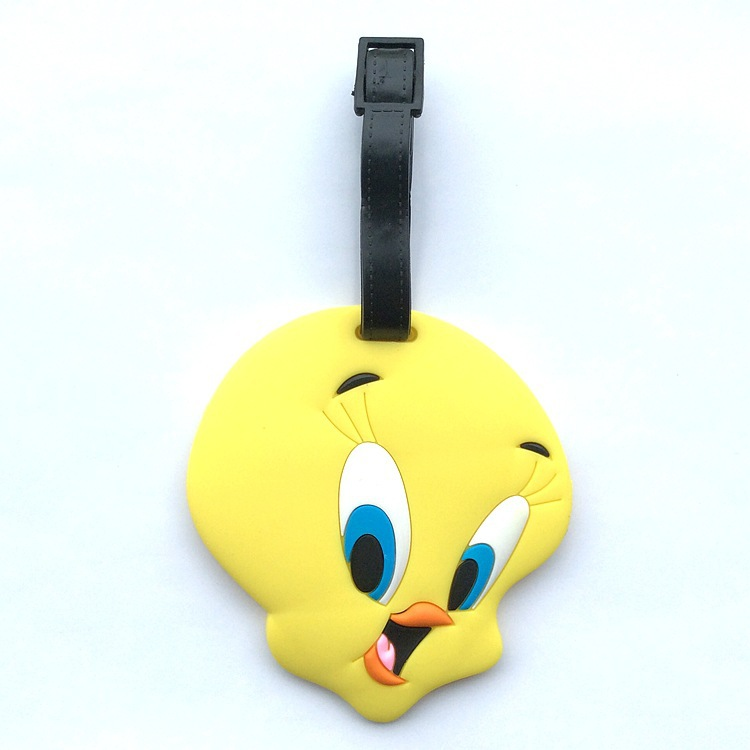 2018 Travel Accessories Suitcase Protective Covers Tweety Tweetybird Luggage Check Tags Checked Card Boarding Identification