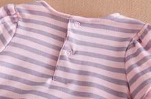 Striped Top Dress & Pant 2-Piece Suit Princess Flowers