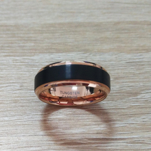 Black & Rose Gold Tungsten Carbide Friendship Rings