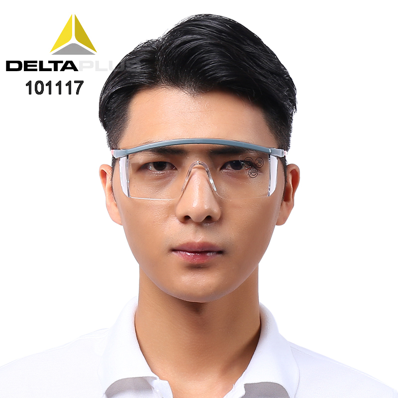 DELTA PLUS 101117  Transparent 101113 Gray Safety Glasses High Quality Anti-shock  Protective Glasses Anti-UV Goggle