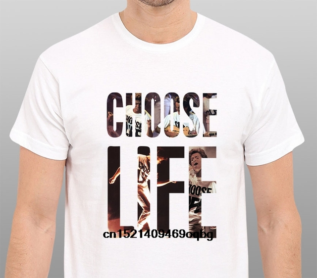 54b81e23 Casual T Shirt Tops Discounts Choose Life Wham Tribute To George Michael  Crew Neck Short-Sleeve Office Tee