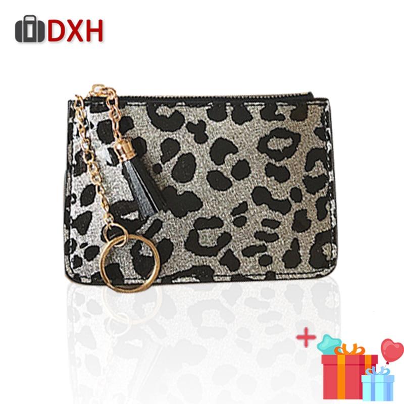 Fashion Women's Wallets Female Short Thin Leopard Zipper Small Tassel Ladies Purses Coin Bag 2019 Dxh Clutch Pu Wallet For Women