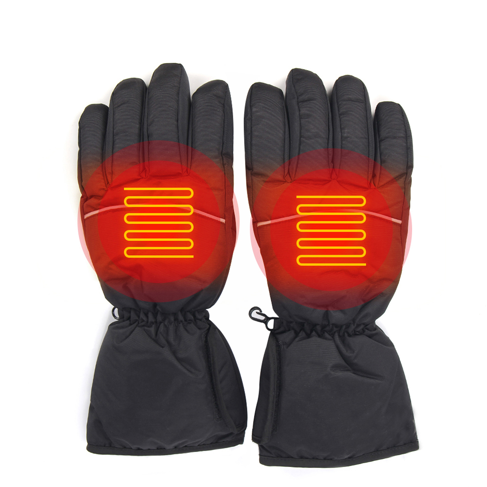 Motorcycle Gloves Heated Gloves Battery Powered Riding Waterproof Winter Moto Gloves Motorbike Guantes Touch Screen Gant Moto