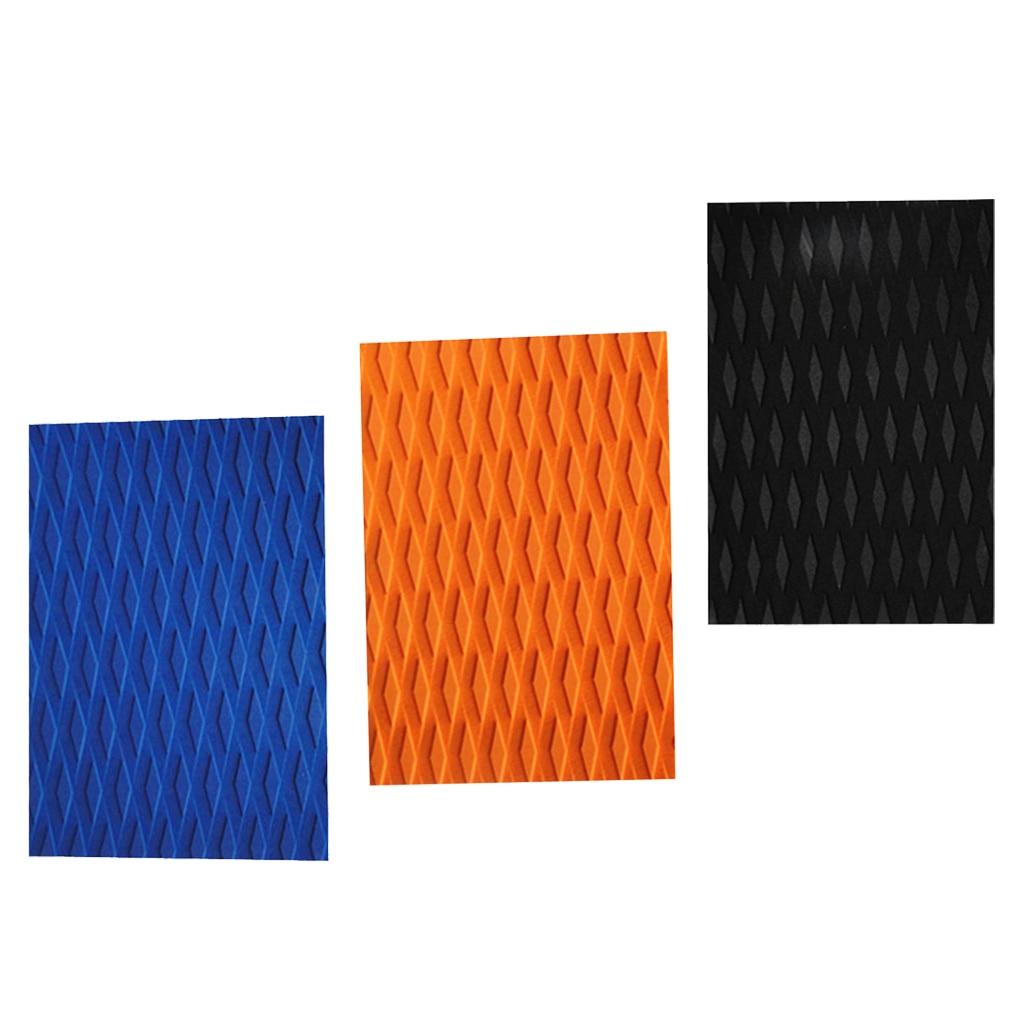 Tapis antidérapant de poignée de plate-forme de tapis de Traction de planche de surf d'eva accessoires de surf de bricolage 30x21x0.5 cm noir/bleu/Orange