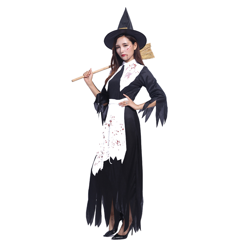 Halloween witch costume adult female performance clothing cosplay costume masquerade bloody witch costume