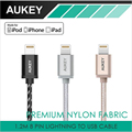 Aukey original 3.3ft/1.2 m cabo usb para iphone 7/7 plus 6 s 8 Pinos cabos de Sincronização do telefone móvel 3 Cores cabo usb para ipad