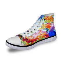 Noisydesigns Fashion Pria Divulkanisir merek Sepatu Klasik putih manusia sneakers Sepatu bernapas pria Mahasiswa gambar Disesuaikan