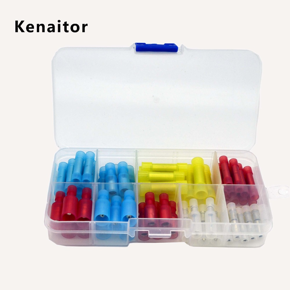 60pcs Electrical wire connectors Bullet Type Female/Male Wire Splice ...