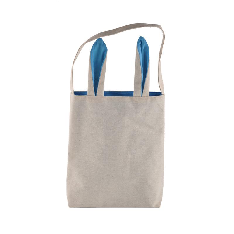 Cotton Carrier Bag Jute Bag Shopper Miniblings Bunny Black Diagonally Easter