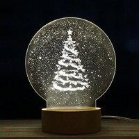 クリスマスパネルアクリル3d ledクリスマスツリーランプ夜ライトデスクギフ