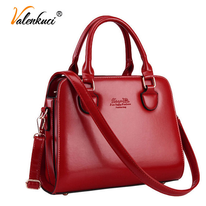ФОТО Valenkuci Women Leather Handbags Women Messenger Bags For Women Designer Handbags High Quality Crossbody Bag Tote Bags SD-240