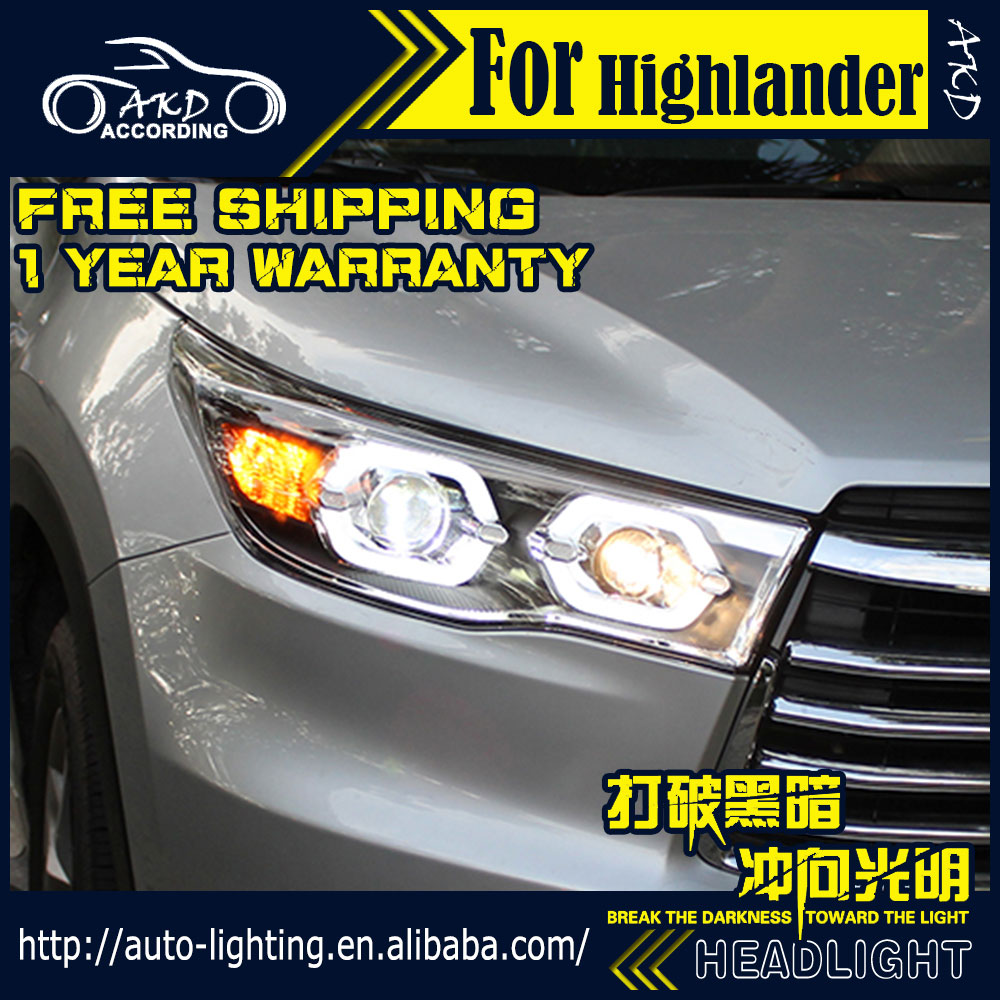Head-Lamp Toyota Highlander Angel Xenon-Beam for Led-Headlight DRL H7-d2h/Hid/Option/..