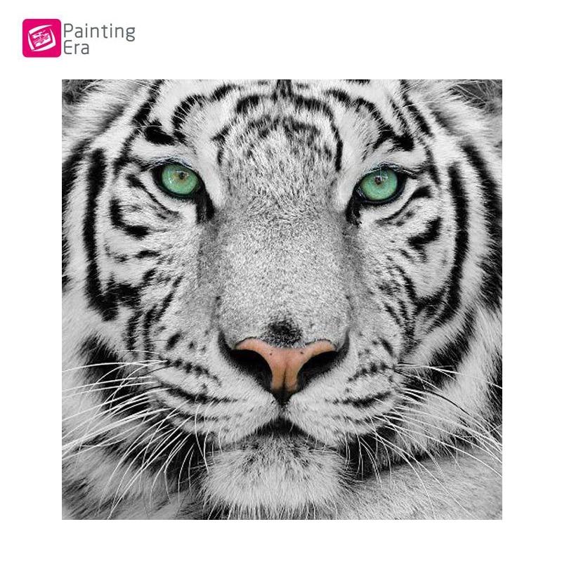 Celotno, Diamantno vezenje, Živali, Tiger, 5D, Diamantno slikanje, - Umetnost, obrt in šivanje