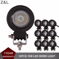 10pcs 2 5inch CREE 10W LED Work Light Offroad For Car Auto Truck ATV Motorcycle Trailer