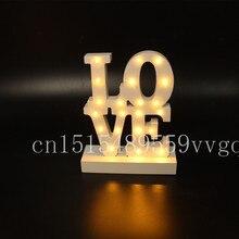 Белый деревянный любовь из светодиодов шатер знак загораются ночник день святого валентина крытый отменять