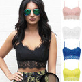 2017 New Fashion Floral Lace Unpadded Bustier Top Bralet Bra Women Tank Crop Tops Sexy Party Corset Bra Cami Vest Clubwear Q1111