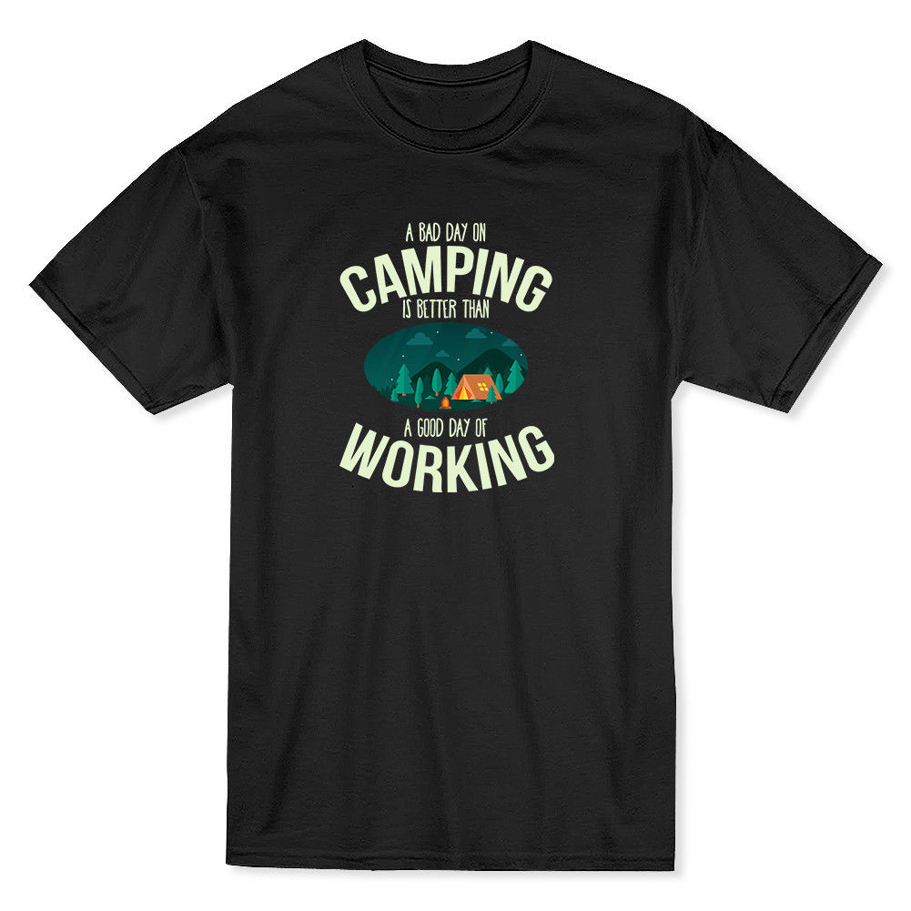 Campinger Is Better Than A Good Day Working Mens T-shirt Print T Shirt Men Summer Style Fashion top tee