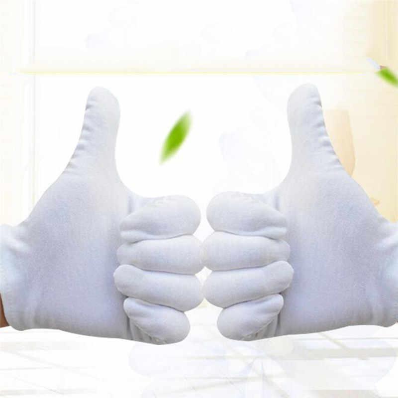 1 par verde jardinería desechables de algodón blanco guantes ceremoniales para hombre mujer servir formador/a camareros/Joyería de guantes