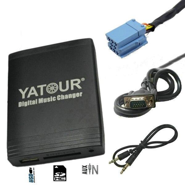 Yatour USB Aux adaptateur fit Renault (numérique CD Changeur SD AUX INTERFACE MP3) Clio Scenic Laguna Megane Koleos émulateur kit