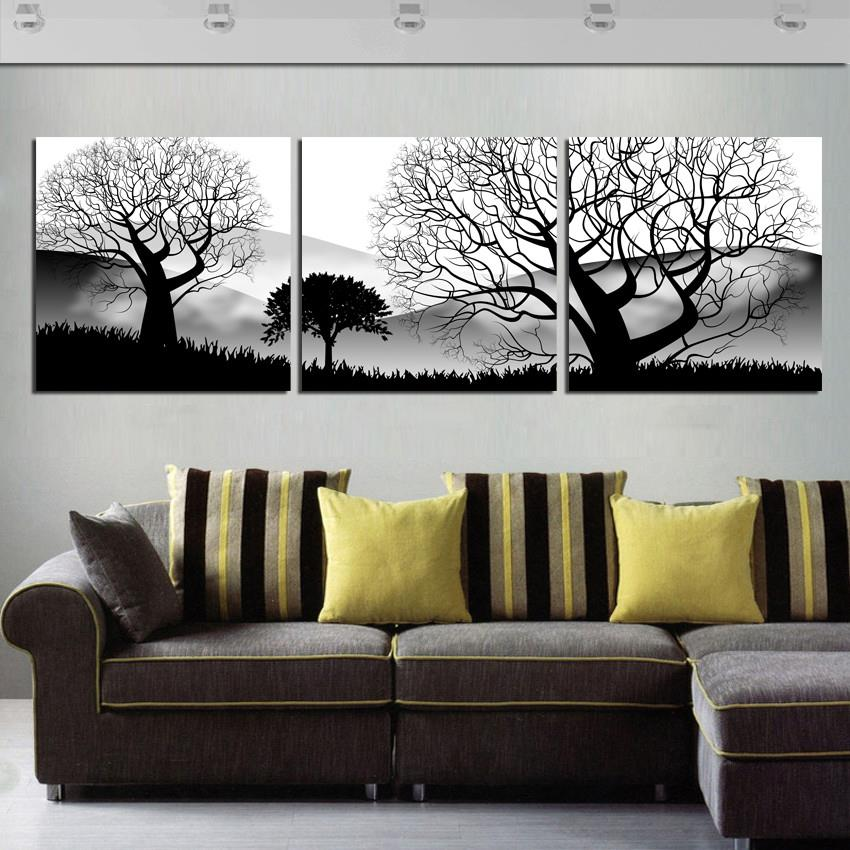 3 Panels Modern Living Room Wall Hanging Art Abstr  Abstract Painting