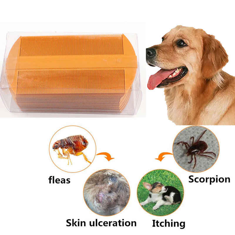Pet dog cat hair comb hair cleaning tool Grooming Trimmer Tool remove the scorpion flea comb Pet Puppy Cleaning Supplies L255
