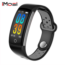 Imosi 0.96 LCD Q6 Smart Band Heart Rate Monitor Fitness Bracelet IP68 Waterproof Watches Blood Pressure Oxygen Fintess Tracker