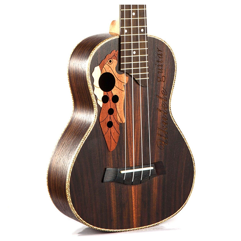 Guitare de voyage ukulélé électrique acoustique ténor de Concert de 23 pouces 4 cordes Guitarra bois acajou Plug-in musique Inst ukelele