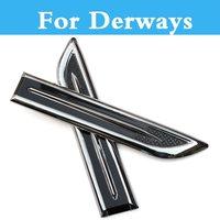 2Pcs ABS Chrome Car Side Modified Car Stickers For Derways Saladin Shuttle Aurora Cowboy Land Crown