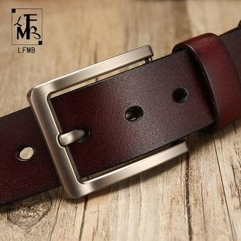 [LFMB]leather belt men Belt for Men Cow genuine leather strap Designer Belts Male ceinture homme High Genuine Leather Belt