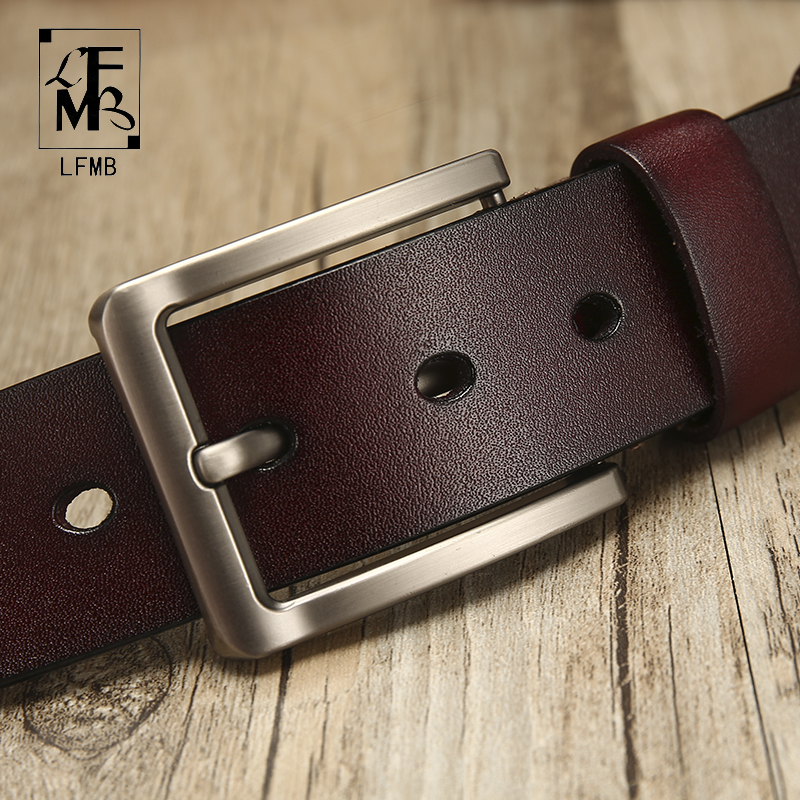 [LFMB]leather   belt   men   Belt   for Men Cow genuine leather strap Designer   Belts   Male ceinture homme High Genuine Leather   Belt