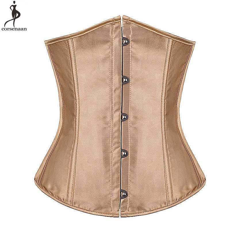 Женский сатиновый корсет большого размера 6XL, корсет с пуш-апом на талии для похудения, жесткий корсет