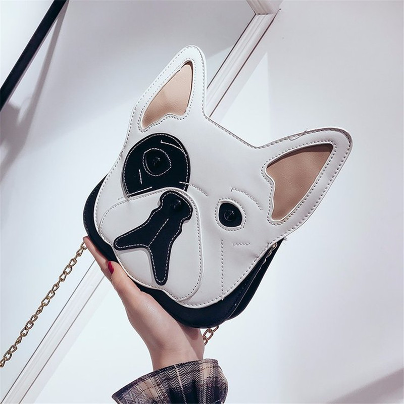2018 New Arrival FRENCH BULLDOG Kawaii Shouler Bag Cartoon Animal Women School Mini Bag Fashion Dog Crossbody Bags for Women