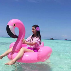 Inflatable Flamingo Pool Float Circle Air Mattress Swimming Float Inflatable Pool Ring Toys for Adult para piscina Summer Toy