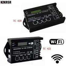 DC12 DC24V TC420/TC421 WiFi זמן לתכנות led בקר דימר RGB אקווריום תאורה טיימר קלט 5 ערוצים עבור led רצועת
