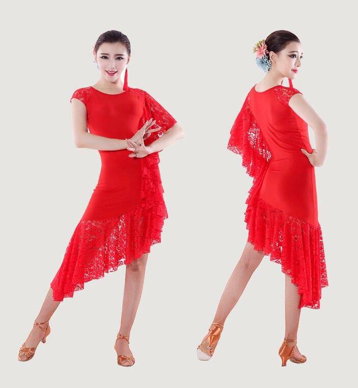 custom customize Latin dance one-piece lace salsa tango rumba Cha cha Ballroom Dance Dress competition dress