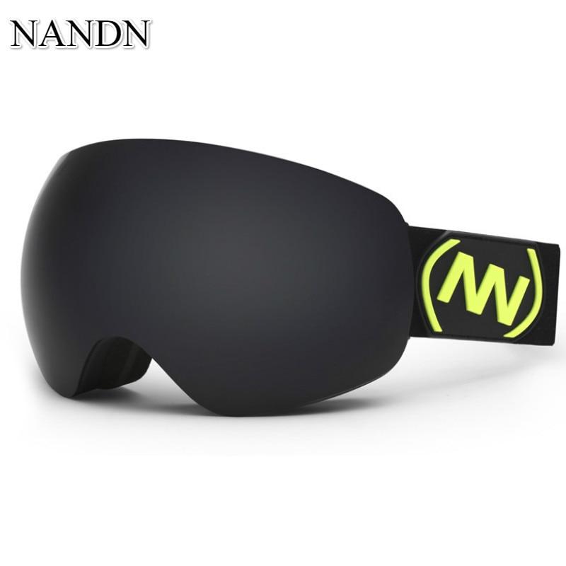 NANDN Marque ski lunettes Double Couches UV 400 Anti-brouillard grand masque de Ski lunettes Ski Lunettes hommes et femmes neige snowboard lunettes