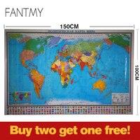 World Political Map In Russian Language Not English World Map Wall Paper Sticker Pano Freestuff Kontselyariyae