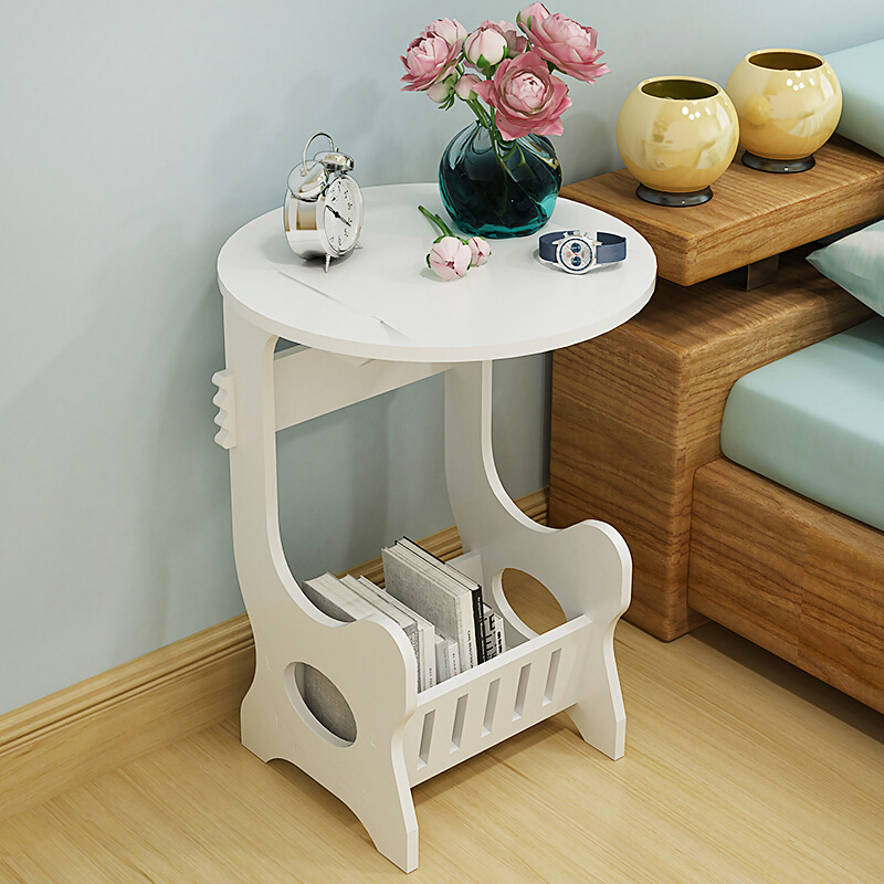 round coffee table  tea desk  side table end console table magazine rack 2