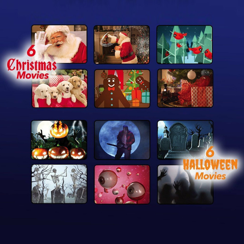 12 Movies Mini Christmas Halloween Window Home Theater Projector ...