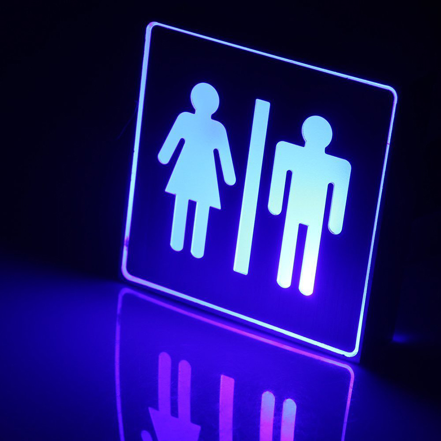 LED Signal Indicator Warning Sign WiFi Lounge Toilet Indication Wall Lamp For Hotel Shopping Mall Office Indoor Decoration
