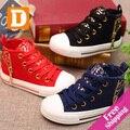 Crianças moda leopardo shoes nova primavera 2017 da marca casual crianças sapatilha da lona shoes for girls & boys tamanho 23-37 boa qualidade