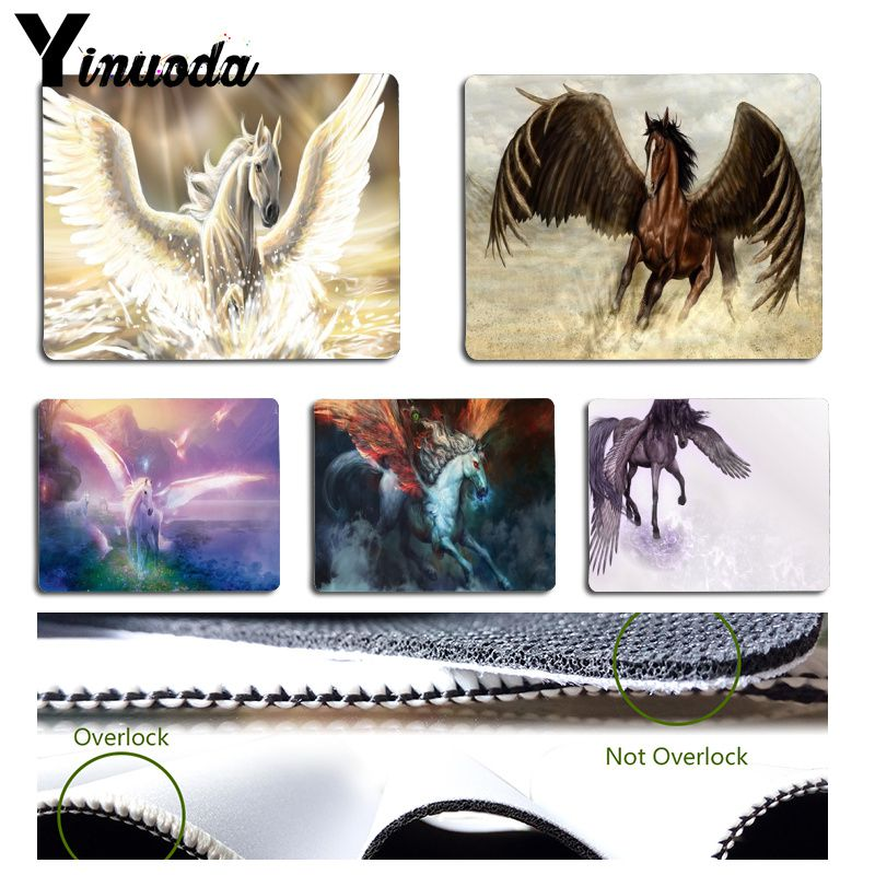 Yinuoda New Designs Running Angle Horse Laptop Gaming Mice Mousepad Size for 180x220x2mm and 250x290x2mm Small Mousepad