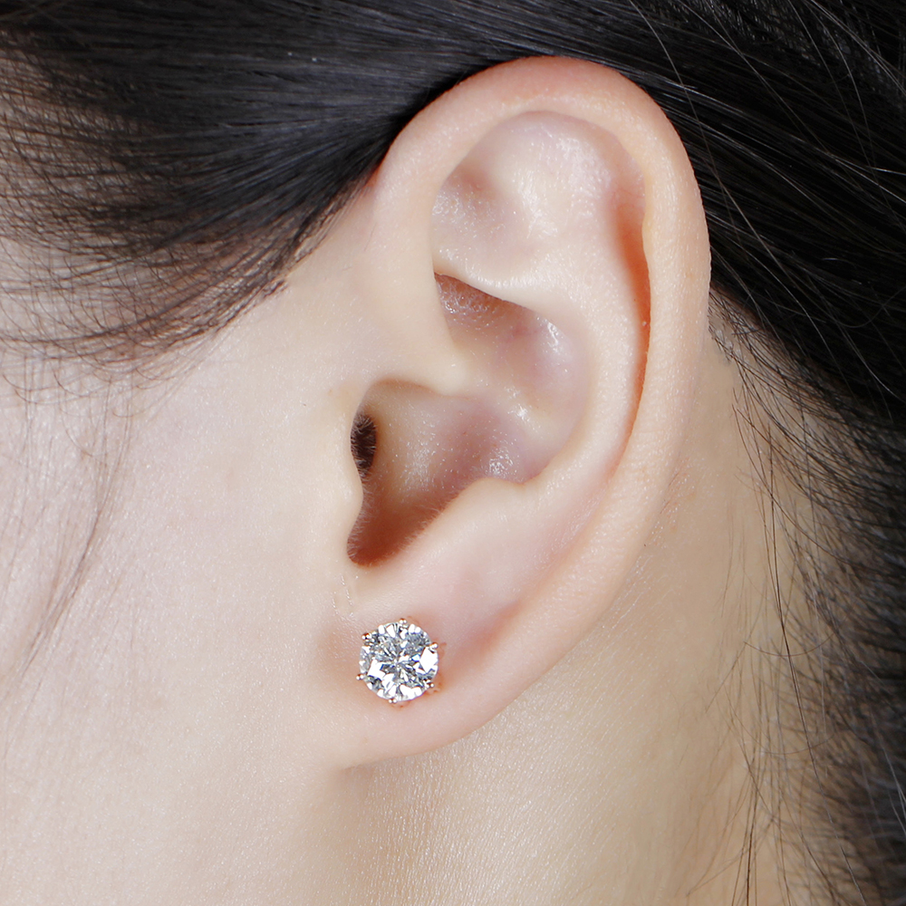 moissanite earrigns rose gold (7)