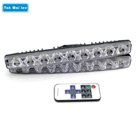 2X 9 LEDs RF Control 8 Dynamic Effects Dimmer LED Strobe Flash DRL Daytime Running Light
