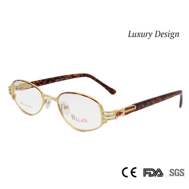 Роскошные женские Золотые Очки Кадр Оптический Высокое Качество Очки Кадр Женского Небольшой Овальный óculos lentes opticos mujer